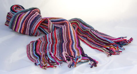 Soft, Long Winter Scarf - Striped
