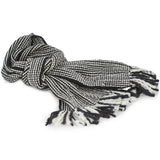 Extra Long, Extra Thick Striped Winter Scarf - 100% Wool