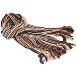 Long, Thick Striped Winter Scarf - 100% Wool