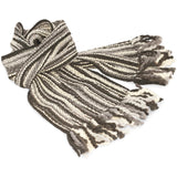 Thick Striped Winter Scarf - 100% Wool