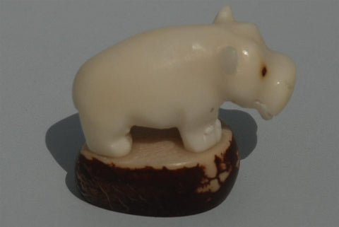 Hand carved tagua animal