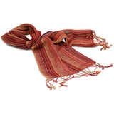 Naturally Dyed Alpaca  (60% Alpaca, 40% Sheep wool) Wool Winter Scarf - Bayeta