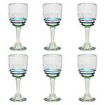 3-colour Ring Wine Glass - Recycled Glass