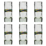 Multi-Stripe Shot Glass - Recycled Glass