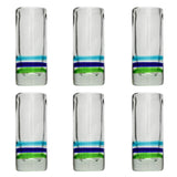 3-Colour Ring Shot Glass - Recycled Glass