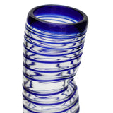"Blue Spiral Large ""Drunken"" Glass - Recycled Glass"