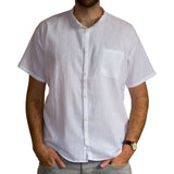 Fair Trade Short-Sleeve Grandad Shirt from Ecuador - 100% cotton - Choice of Colours