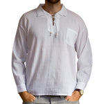 Fair Trade Long-Sleeve Drawstring Shirt from Ecuador - 100% cotton - Choice of Colours
