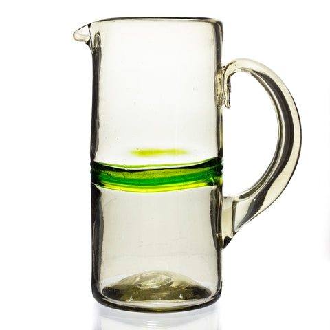 Green Stripe 2 Litre Jug - Recycled Glass