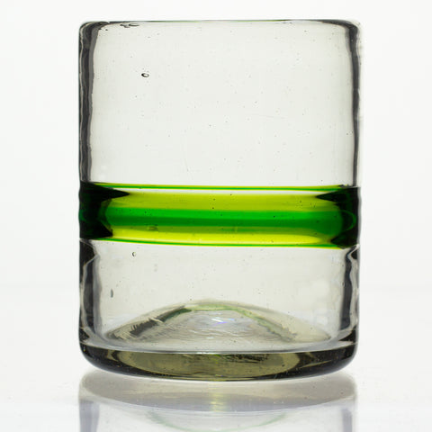Green Stripe Tumbler - Recycled Glass