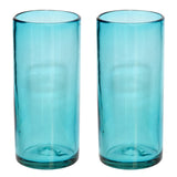 Turquoise Hi-Ball Glass - Recycled Glass