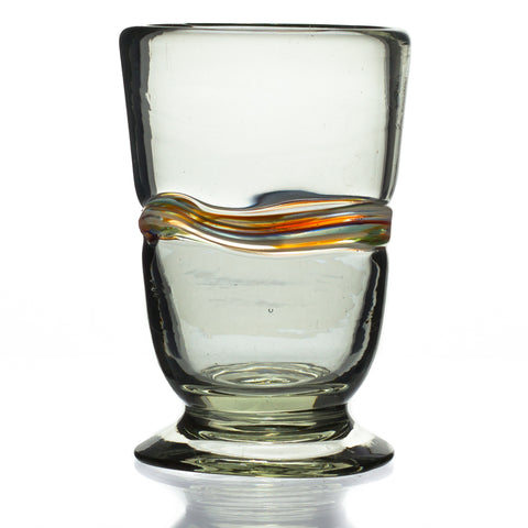 Multi-Stripe Conico Glass - Recycled Glass