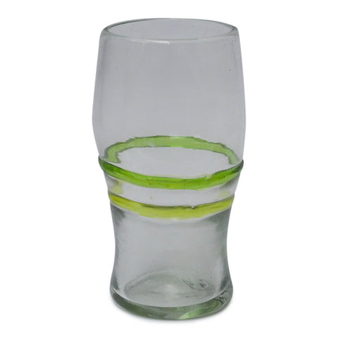 2 Coloured Ring Pint Glass - Recycled Glass