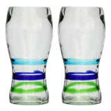 3-Colour Ring Pint Glass - Recycled Glass