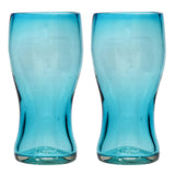 Turquoise Pint Glass - Recycled Glass