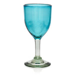 Turquoise Wine Glass - Recycled Glass