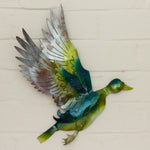 Recycled Tin Flying Duck - Green