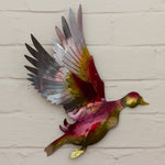 Recycled Tin Flying Duck - Pink