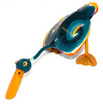 Recycled Tin Brightly Coloured Standing Duck