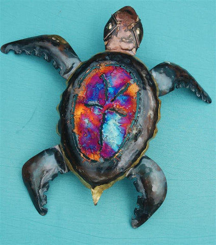 Recycled Tin Turtle large