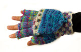 Multicolour fingerless mittens
