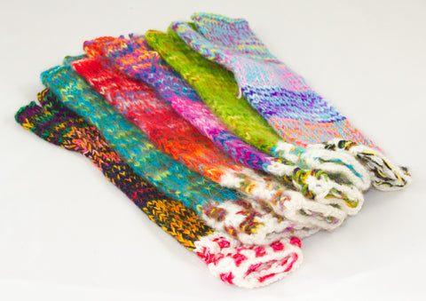 "Hand-Knitted Wool Arm Warmers / ""Gleeves"""