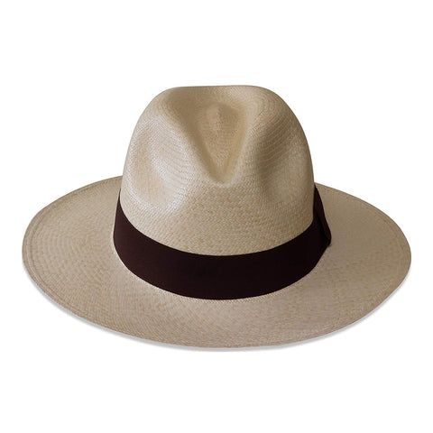 Tumia Fedora Panama Hat - Non-rollable - Natural