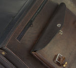 Leather and manta brief case