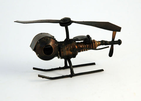 Recycled Tin helicopter