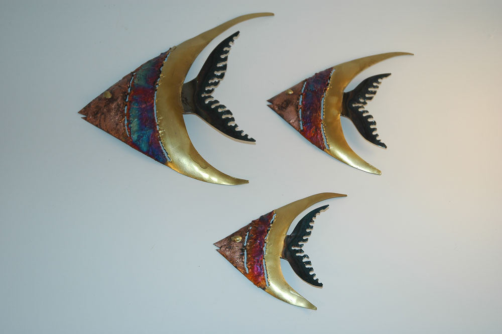 Recycled Tin Fish set of 3 - Cola Serrucho