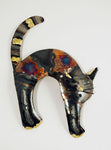 Recycled Tin Cat- arched back