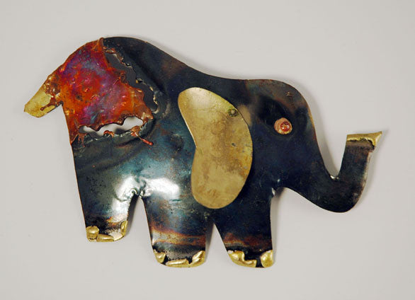 Recycled Tin Elephant small