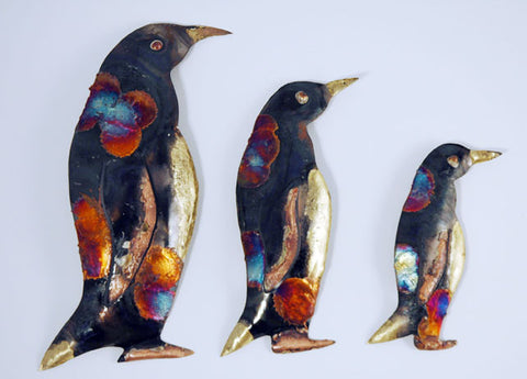 Recycled Tin Penguin set of 3