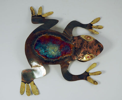 Recycled Tin Frog large