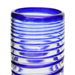 Blue Spiral Hi-Ball Glass - Recycled Glass