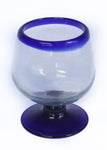 Blue Rim Brandy Glass