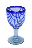 Patterned wine glass - recycled glass