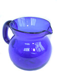 Blue Recycled Glass Water Jug