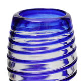 Blue Spiral Pint Glass - Recycled Glass