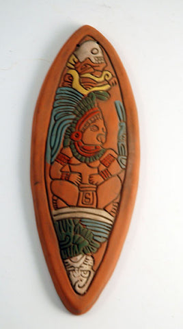 Mayan warrior wall plaque