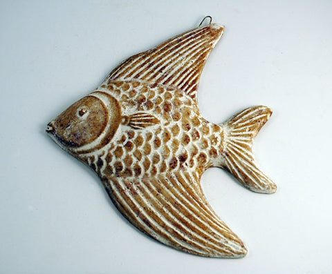 Fish Plaque - Tan