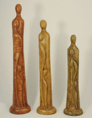 Ceramic abstract figures x3