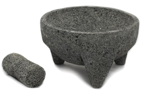 Mexican Lava Rock Pestle and Mortar Set (Molcajete)