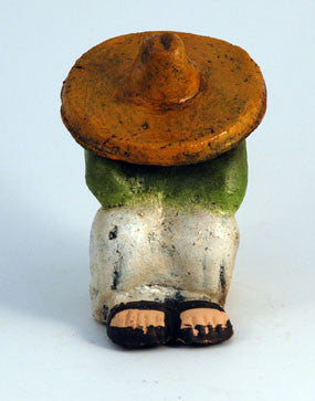 Mexican siesta clay figure large