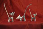 Ringholder Aluminium cat set of 3