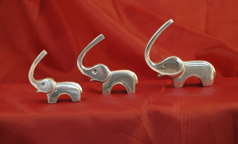 Ringholder Aluminium Elephant set of 3