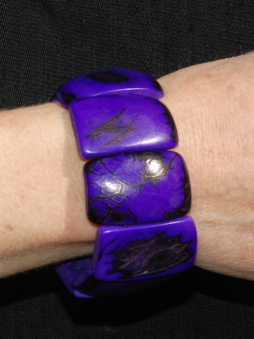 Tagua bracelet coloured