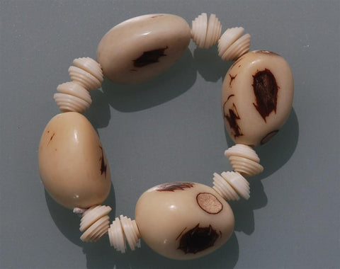 Tagua bracelet natural shaped