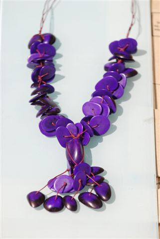 Tagua necklace coloured chunky