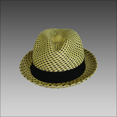 Tumia Striped Trilby Panama Hat